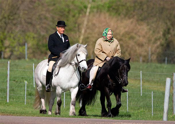 88-Yr-Old Queen Elizabeth II Spotted Riding Horse