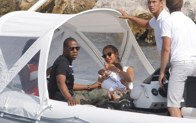 Blue Ivey Peeps Out Of Blanket While Jay Z Pushes Stroller